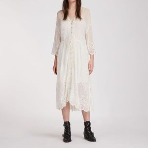 AllSaints lace midi dress